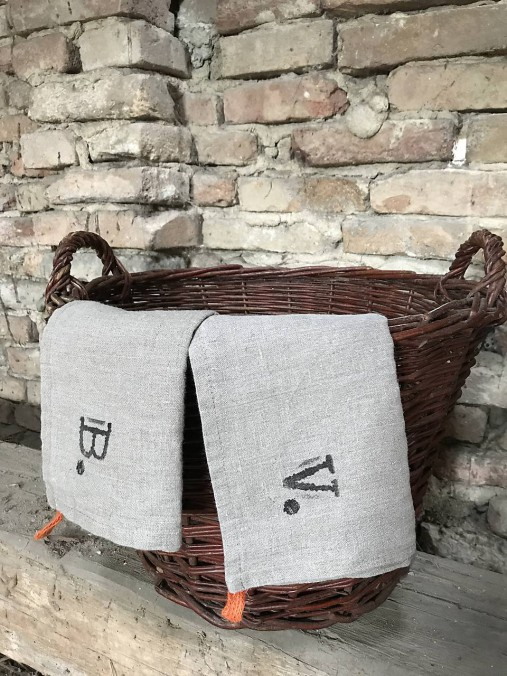 Úžitkový textil - Utierka s vlastným monogramom - 8348008_