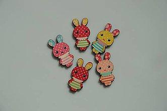 Polotovary - Drevený zajačik - výrez 2,5 x 1,3 cm - 8349460_