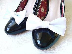 Obuv - Svadobné klipy na topánky (biele) - 8351098_