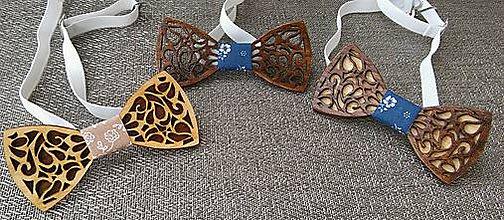 Doplnky - Drevené motýliky Luxus - 8350508_