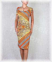 Šaty - Šaty s řasením v pase vz.364 - 8351825_