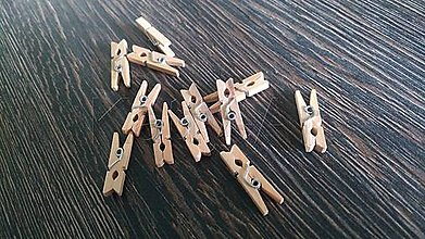 Komponenty - Drevené mini štipce - 8349939_