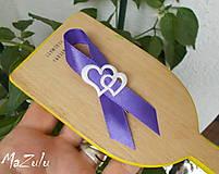 Pierka - svadobné pierka s dvojsrdiečkom - 8350336_