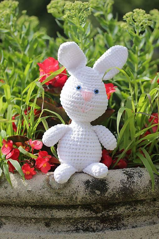 Háčkovaný zajačik 26 cm - Návod SK, EN