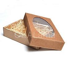 Obalový materiál - 200367 Dárková krabička s okénkem 20x15x3,5cm - 8350178_