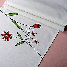 Úžitkový textil - KVĚTINKOVÝ - běhoun 35x155 cm - 8351735_