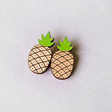 Náušnice - ananás - napichovačky - 8351036_