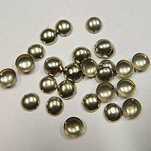 Iný materiál - Našívacie kovové pliešky - dutá polguľa 11mm strieborné - 8349825_