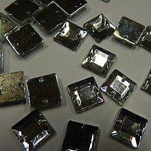 Iný materiál - Našívacie kamienky štvorcové kryštál 10mm - 8350201_