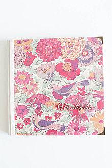 "Papiernictvo - Kniha hostí "" Floral Birds"" - 8350886_"