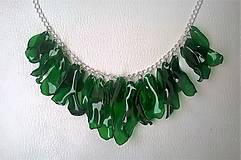 Náhrdelníky - Zelený plast - 8351180_
