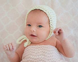 Detské čiapky - Bavlnený čepček NATUR - 8352233_