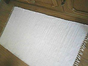 Úžitkový textil - tkany koberec biely - 8353713_