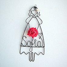 Detské doplnky - dievčatko s veĺkou ružou - 8354446_