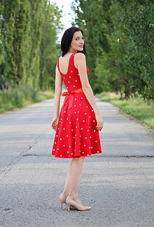 Šaty - Dot Red - 8354295_