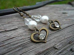 Náušnice - Náušnice Romantické srdce - 8354015_