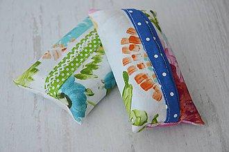 Iné tašky - Obal / zásobník na papierové vreckovky kreslené kvety - 8352906_