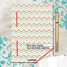 Papiernictvo - MADEBOOK kniha A5 - Prešité nápady - 8353549_