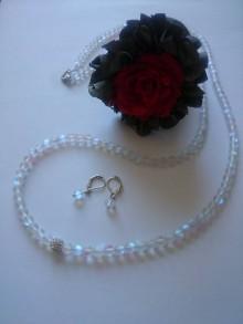 Sady šperkov - Luxusná súprava z mesačného kameňa s dlhokánskym náhrdelníkom - 8355204_