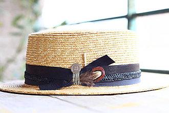 Čiapky - Letný slamený klobúk Free unisex - 8352489_