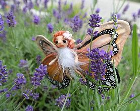 Dekorácie - ♥ Motýlia víla - oranžová ♥ - 8352582_