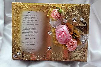 Papiernictvo - Gratulačná kniha k narodeninám pre mamičku - 8354258_