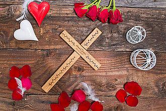 Darčeky pre svadobčanov - SVADOBNÝ KRÍŽ 2 - 8355528_