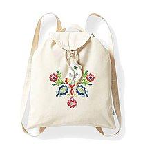 Batohy - Bavlnený festivalový ruksak, natural, výšivka Vajnory - 8352548_