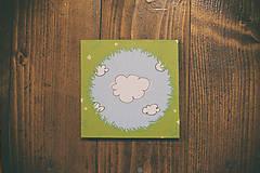 Papiernictvo - Leporelo 13x13 ,, Modré z neba,, - 8352930_