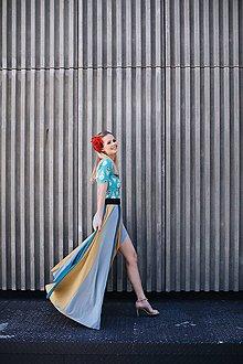 Topy - Elegantný top Turquoise - 8355469_