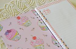 Papiernictvo - Receptár - ružový makrónkový - 8353735_