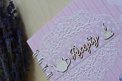 Papiernictvo - Receptár - ružový makrónkový - 8353737_