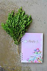 Papiernictvo - Receptár - ružový makrónkový - 8353738_