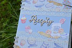 Papiernictvo - Receptár - bledomodrý - 8353751_