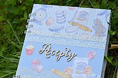 Papiernictvo - Receptár - bledomodrý - 8353752_