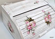- Vintage ružičkový chlebník - 8352208_
