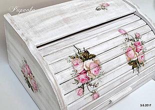 Nádoby - Vintage ružičkový chlebník - 8352208_