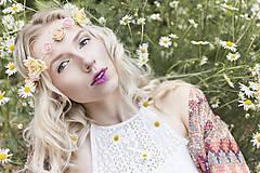 Ozdoby do vlasov - Jemná elastická čelenka s drobnými kvetinkami - 8354301_
