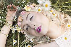 Ozdoby do vlasov - Jemná elastická čelenka s drobnými kvetinkami - 8354302_