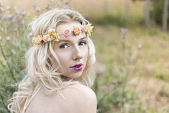 Ozdoby do vlasov - Jemná elastická čelenka s drobnými kvetinkami - 8354288_