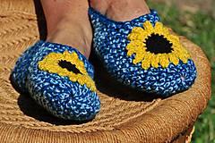Obuv - Modré slnečnice - 8354142_