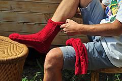 Obuv - Pánske,červené ponožky - 8354222_