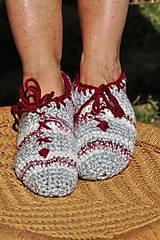 Obuv - papuče na šnurovanie - 8354296_