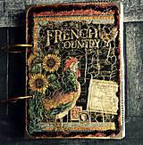 Papiernictvo - Kuchárska kniha - country poľovnícky receptár/Posledný kus - 8352203_