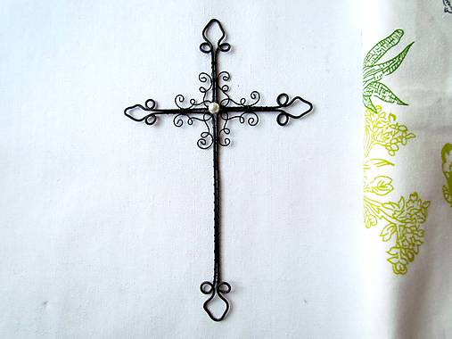Dekorácie - krížik tradičný* 21 cm - 8352490_