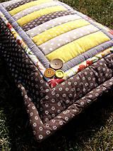 Úžitkový textil - Vankúš - pásy - 8354585_