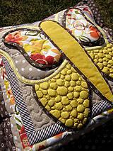 Úžitkový textil - Krajina divých kvetov - motýľ - žlté prevedenie - 8355347_