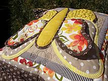 Úžitkový textil - Krajina divých kvetov - motýľ - žlté prevedenie - 8355348_