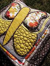 Úžitkový textil - Krajina divých kvetov - motýľ - žlté prevedenie - 8355349_