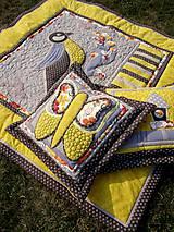 Úžitkový textil - Krajina divých kvetov - motýľ - žlté prevedenie - 8355352_